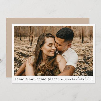 Same Time Same Place New Date Save The Date Card
