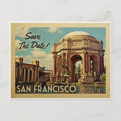 San Francisco Save The Date Palace of Fine Arts Announcement