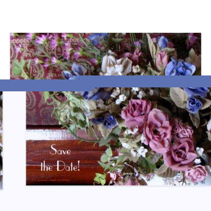 Save Date 40th Anniversary Party Vintage Flowers Cards