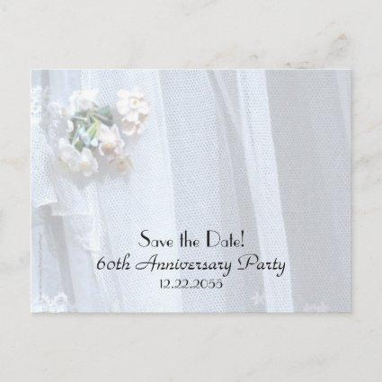 Save Date 60th Wedding Anniversary Announcement