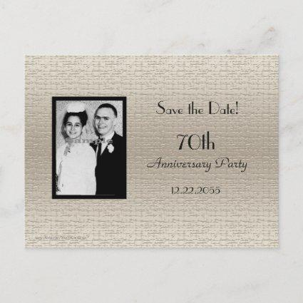 Save Date Anniversary Party Photo Invitation