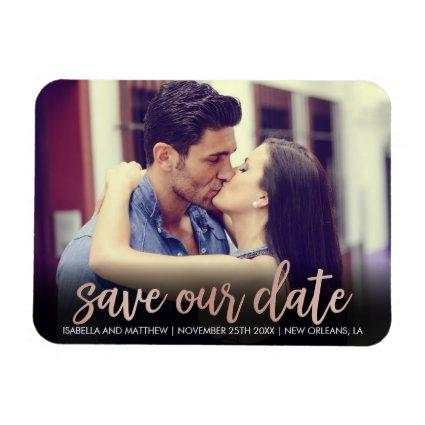 Save Our Date | Chic Personalizable Picture Magnet