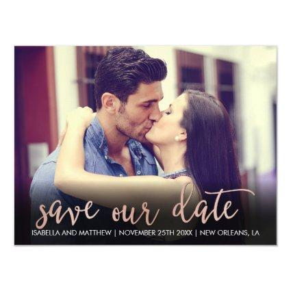 Save Our Date In Rose Gold | Personalizable Magnetsic Invitation
