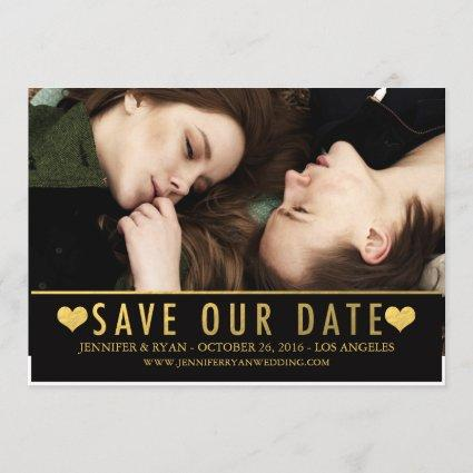 SAVE OUR DATE | SAVE THE DATE GOLD