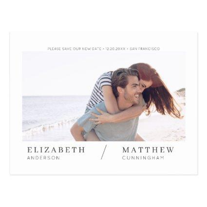 Save Our New Date Simple Chic Custom Photo Wedding