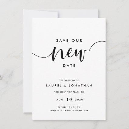 Save Our New Date Wedding Postponement Save The Date