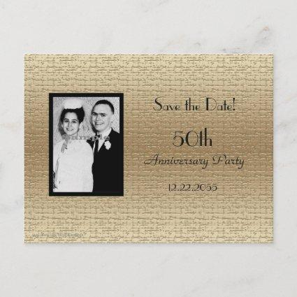 Save the Date 50th Anniversary Photo Announcements