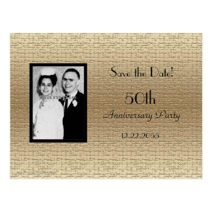 50th Anniversary Photo Announcements Cards