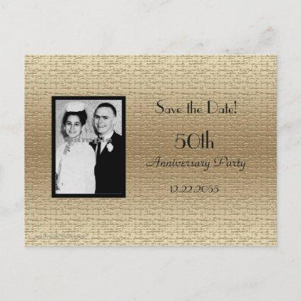 Save the Date 50th Anniversary Photo Invitation