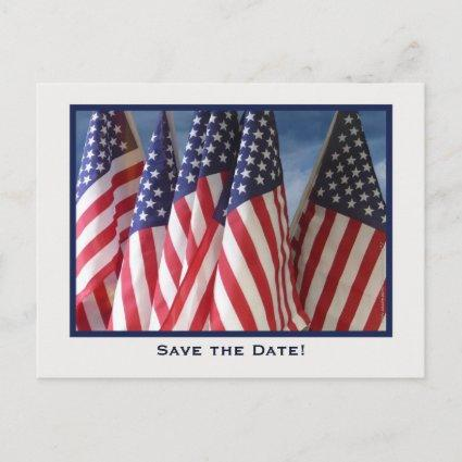 Save The Date 65th Birthday Party Invitation Flags