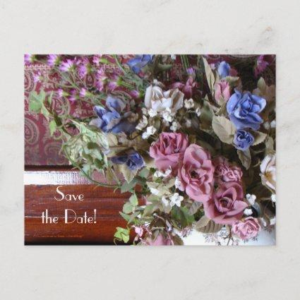 Save the Date 80th Birthday Party Vintage Floral Announcement
