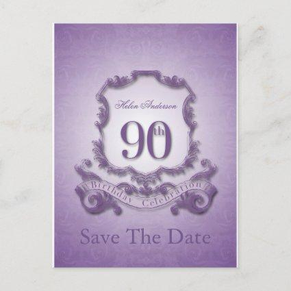 Save the Date 90th Birthday Personalized