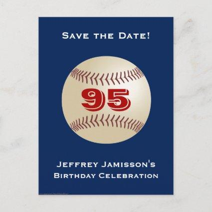 Save the Date 95th Birthday Baseball