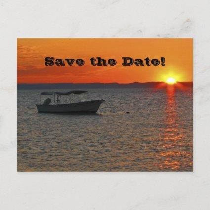 Save the Date 95th Birthday Party, Fishing Boat Announcement