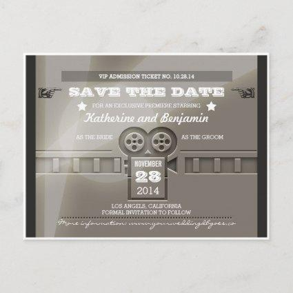 Save the date admission movie ticket s