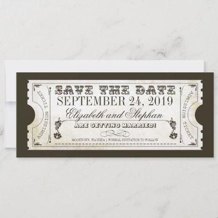 save the date admission tickets