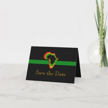 """""""Save the Date"""" Africa w/ Pan African Colors [1] Invitation"""