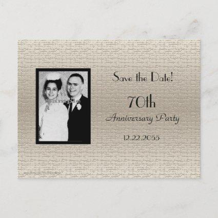 Save the Date Anniversary Photo Announcements