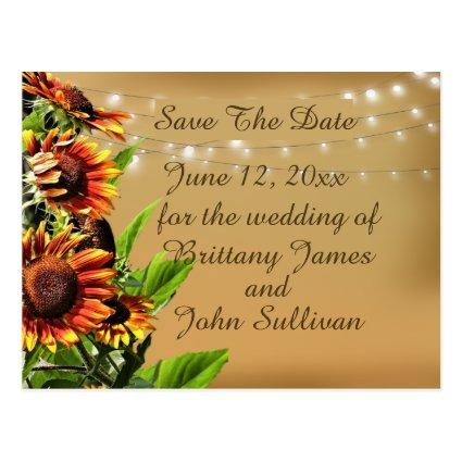 Save the Date Announcement, Sunflowers