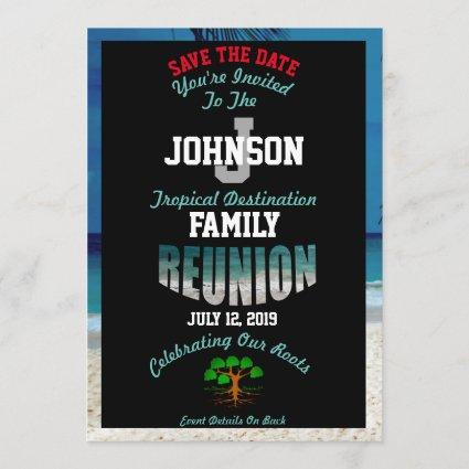 Save The Date Any Name Destination Reunion