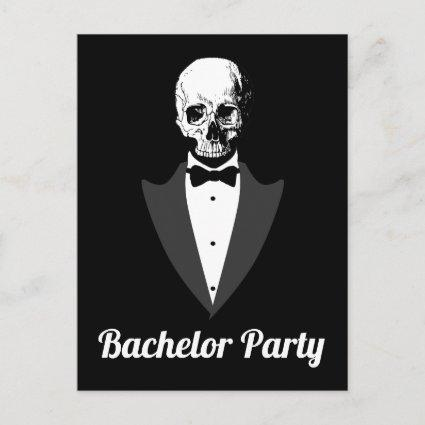 Save The Date Bachelor Party Announcement