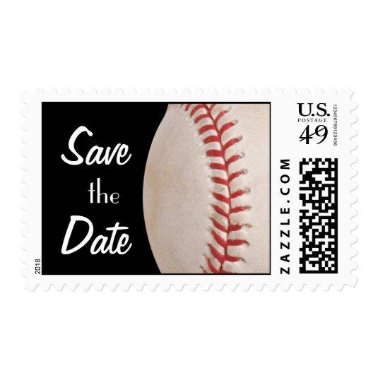 baseball game birthday stamp save the date cards