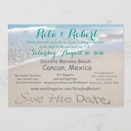 Save the Date | Beach Wedding 5x7 Invitation