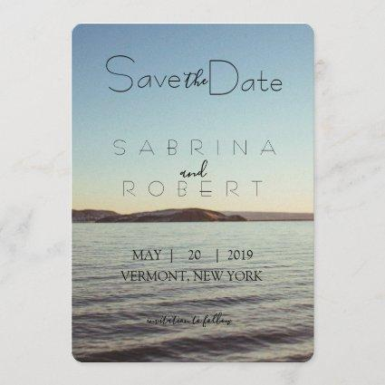 Save the date - Beautiful lake view