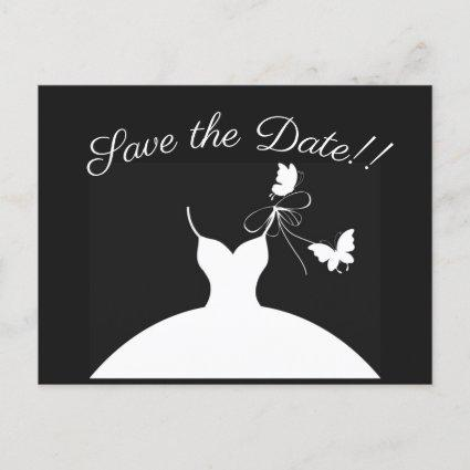 Save the Date Black and White Announcement