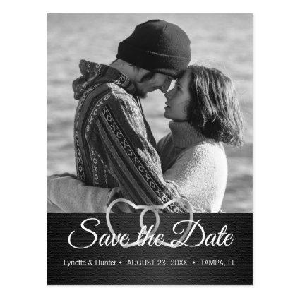 Save the Date - Black and White -Diy Photo