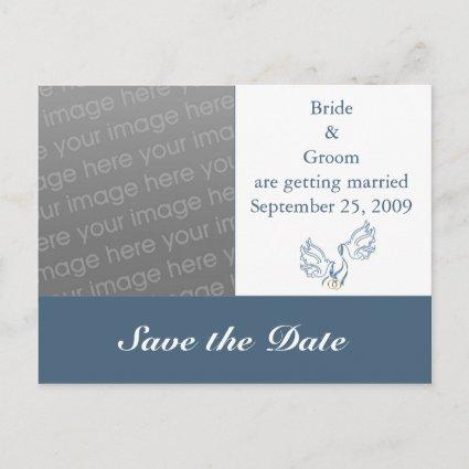 Save the Date - Blue Doves Cards
