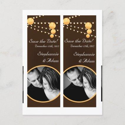 Save the Date Book Mark Favors Paper Lanterns Brow Announcement