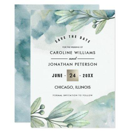 . Botanical Wedding Announcements
