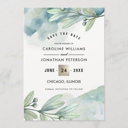Save the Date. Botanical Wedding Announcements