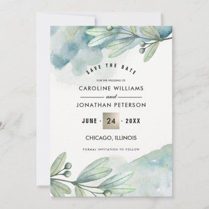 Save the Date. Botanical Wedding Announcement