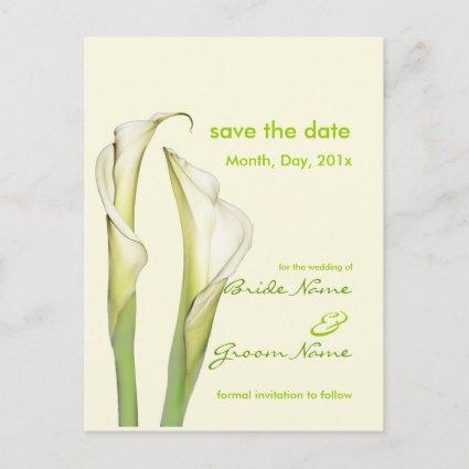 Save the Date, calla lily s