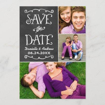 Save the Date Cards | Black Chalkboard Charm
