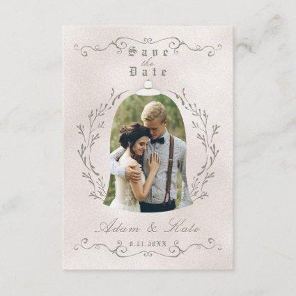 SAVE THE DATE CARD | Elegant Rose of Beauty