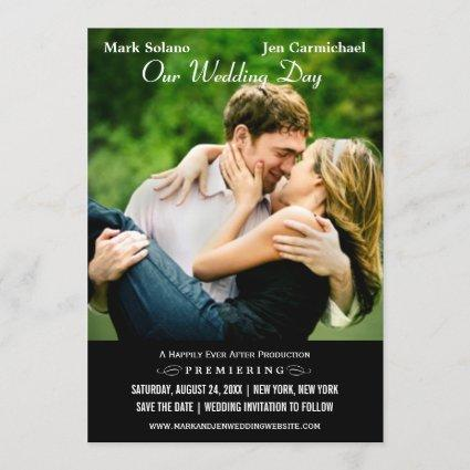 Save the Date Cards | Movie Poster Design