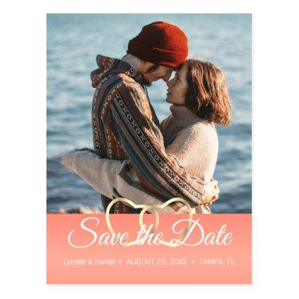 Save the Date - Coral -Diy Photo