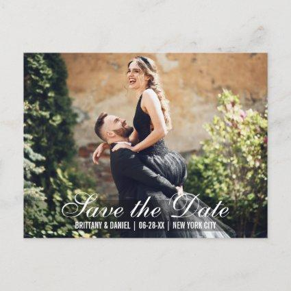 Save The Date Couple Names Photo Date Cards