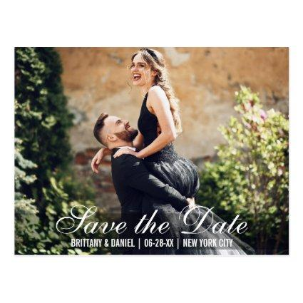 Save The Date Couple Names Photo Date  B