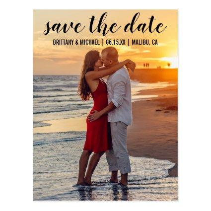 Save The Date Couple Photo Engagement Announce B