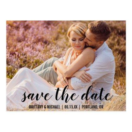 Save The Date Couple Photo Engagement Announce BT Cards