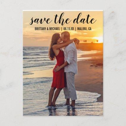 Save The Date Couple Photo Engagement Announcements