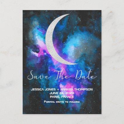 Save the Date   Cresent Moon Watercolors