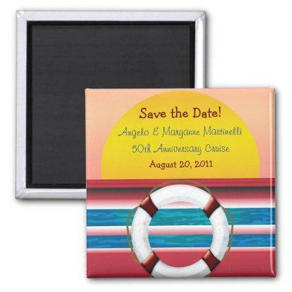 Save the Date Cruise Anniversary Magnet