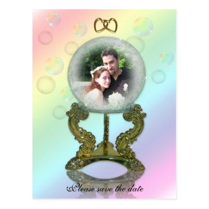 Crystal Ball wedding Announcements. Cards