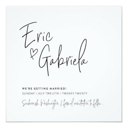 SAVE THE DATE custom design for Eric & Gabriela Invitation