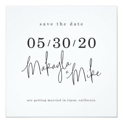 SAVE THE DATE custom design for Makayla + Mike Invitation